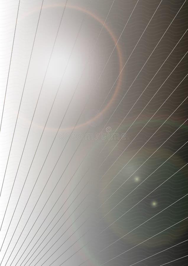 Abstrakcjonistyczne tło wektoru linie i piłki fotografia stock