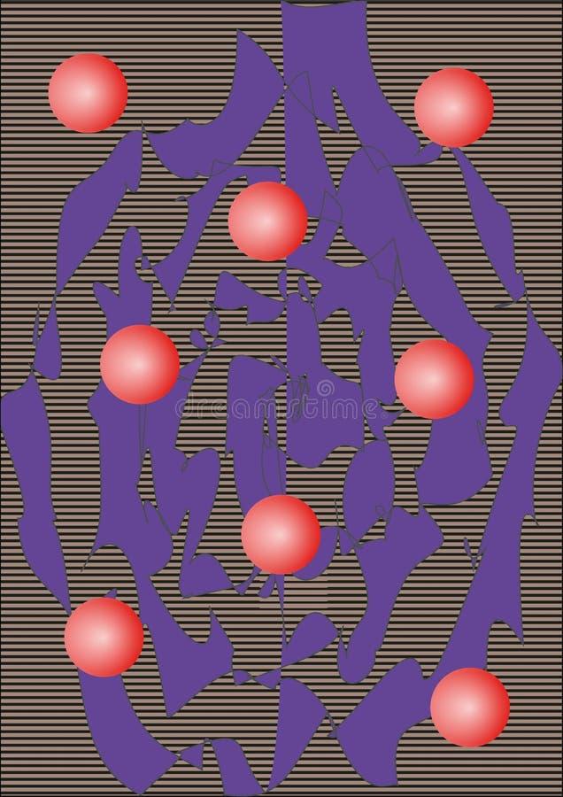 Abstrakcjonistyczne tło wektoru linie i piłki zdjęcie stock