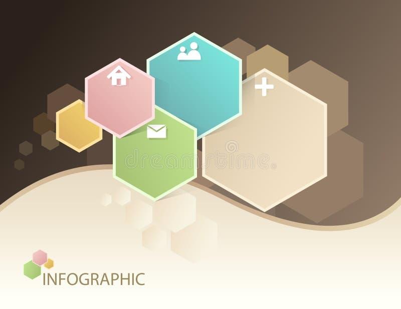 Abstrakcjonistyczne technologii grafika - sześciokąt ilustracja wektor