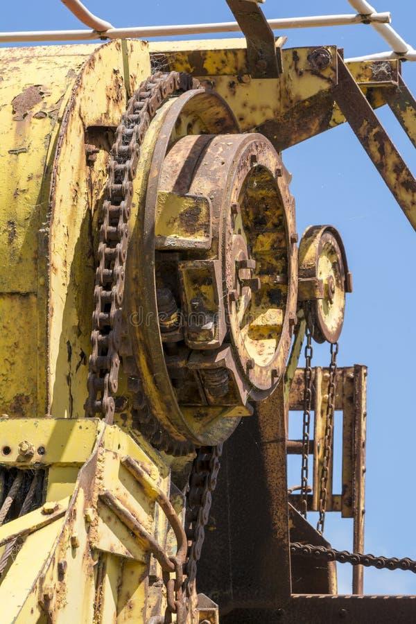 Abstrakcjonistyczne tekstury i kształty: Starzenie się metalu maszyneria zdjęcie stock