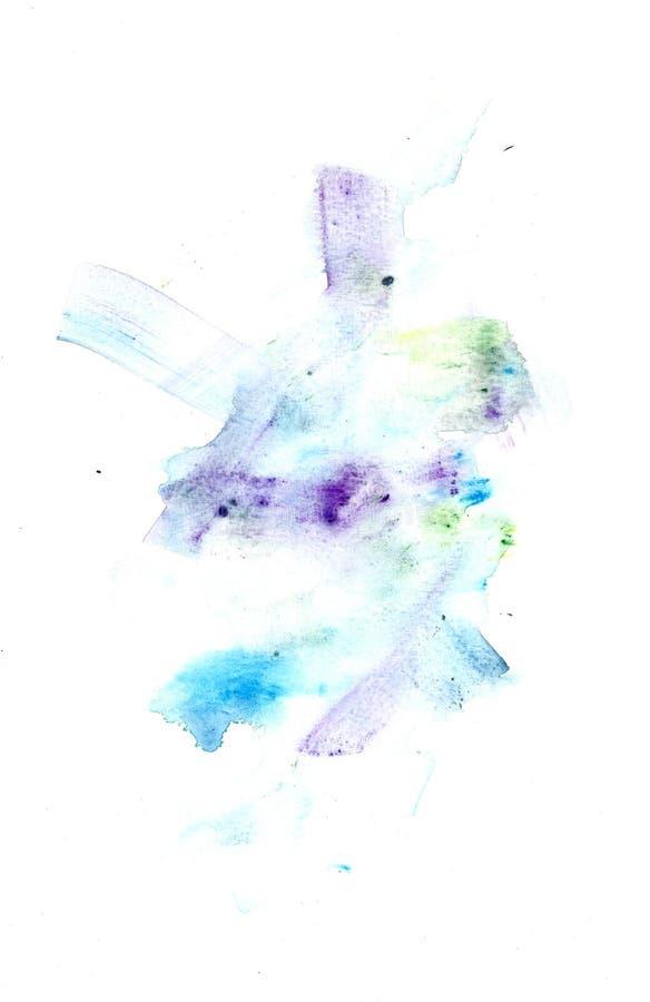 Abstrakcjonistyczne Watercolour farby sztuki pięknej tekstury royalty ilustracja
