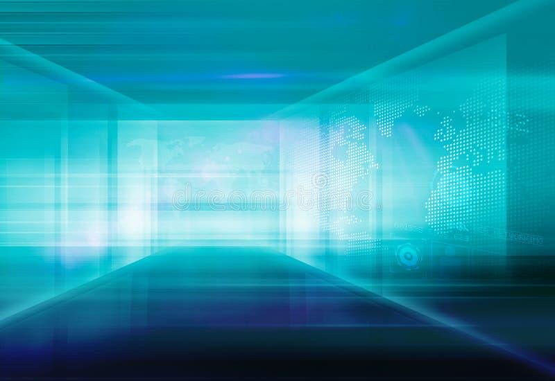 Abstrakcjonistyczne Zaawansowany Technicznie 3D przestrzeni tła pojęcia serie 106 obrazy stock