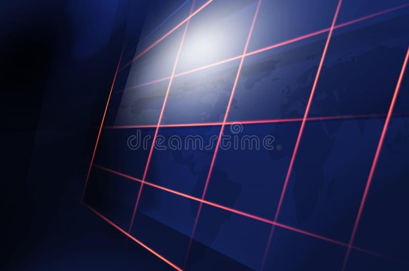 Abstrakcjonistyczne Zaawansowany Technicznie technologii cyfrowej tła pojęcia serie ilustracja wektor