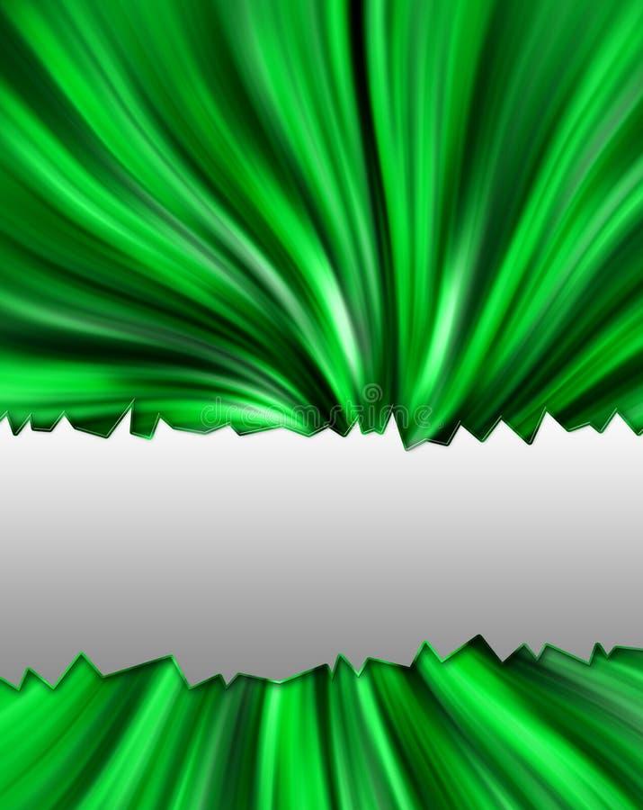 abstrakcjonistyczne zielone fala royalty ilustracja