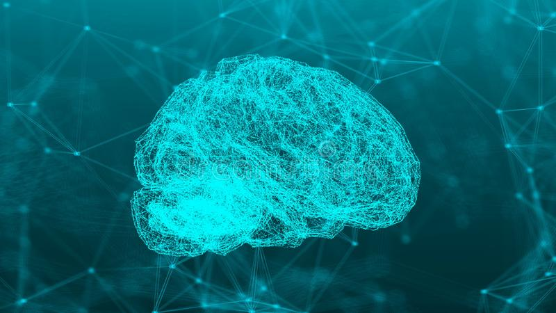 Abstrakcjonistyczne związek kropki z mózg ilustracji