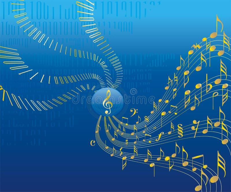 abstrakcjonistycznego środowisk koncepcyjna muzyki royalty ilustracja