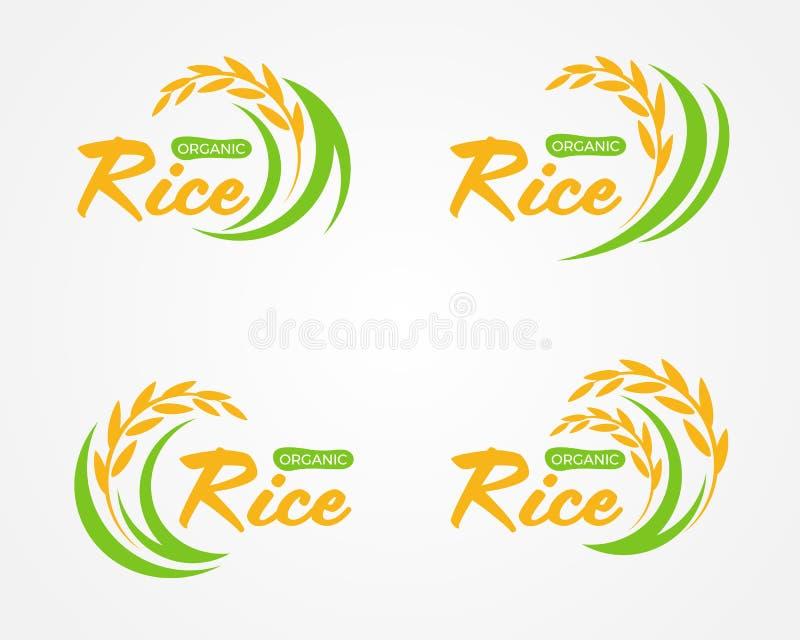 Abstrakcjonistycznego żółtej zieleni irlandczyka logo Organicznie ryżowego znaka wektorowy projekt ilustracja wektor