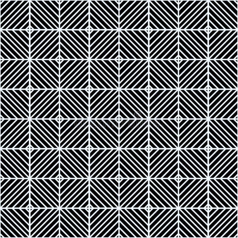 Abstrakcjonistycznego art deco czerni zmroku Szary wzór bezszwowy wielostrzałowy wzór z linii taflować Grungy freehand atramentu  royalty ilustracja