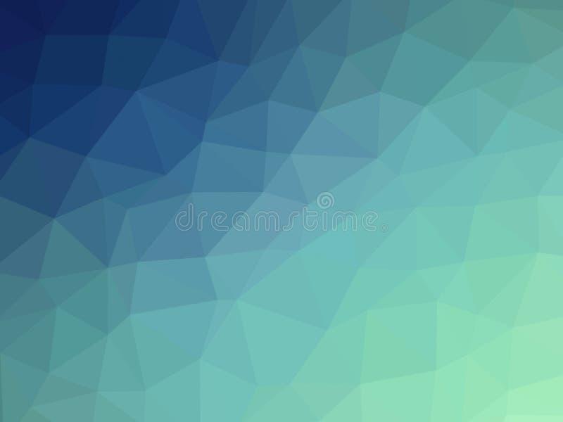 Abstrakcjonistycznego błękitnego cyraneczka gradientowego wieloboka kształtny tło ilustracji