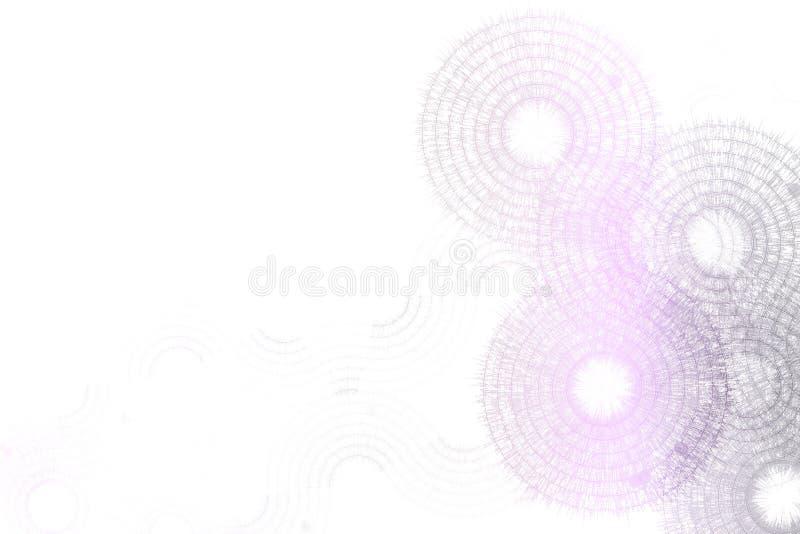 abstrakcjonistycznego błękitnego projekta fractal purpurowy biel ilustracji