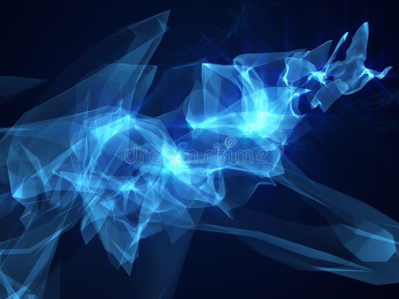 Abstrakcjonistycznego błękitnego tło techniki ruchu projekta oświetleniowych skutków nauki sci fi pozaziemska jarzeniowa dynamicz ilustracja wektor