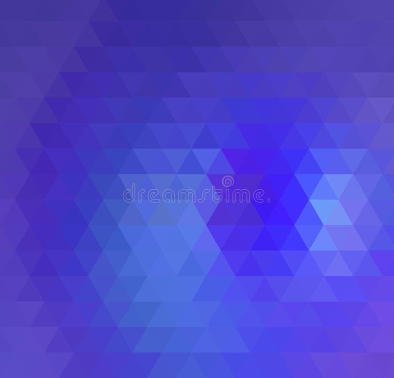 Abstrakcjonistycznego Błękitnego trójboka Geometrical tło, Wektorowa ilustracja ilustracji