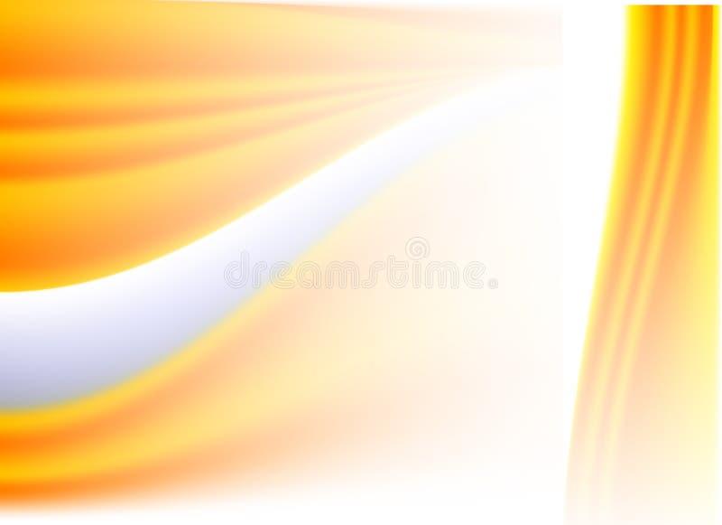 abstrakcjonistycznego backg wektora illustratration fala pomarańczowe ilustracji