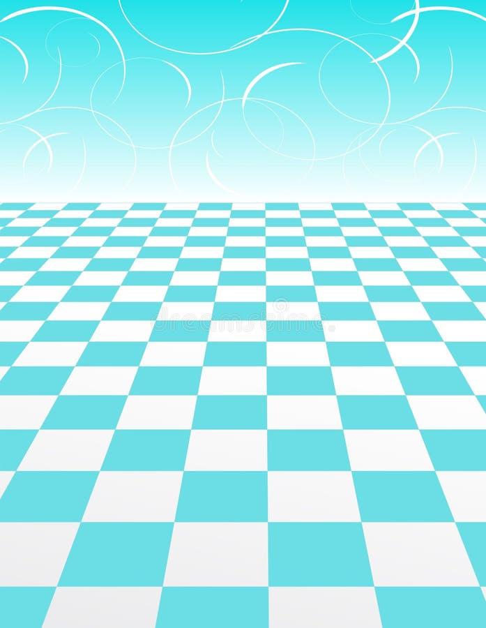abstrakcjonistycznego backgroun błękitny checker wzoru zawijas ilustracja wektor