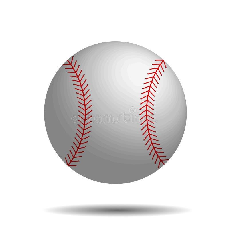 Abstrakcjonistycznego baseballa wektorowy wizerunek z 3d baseballa piłką ilustracji