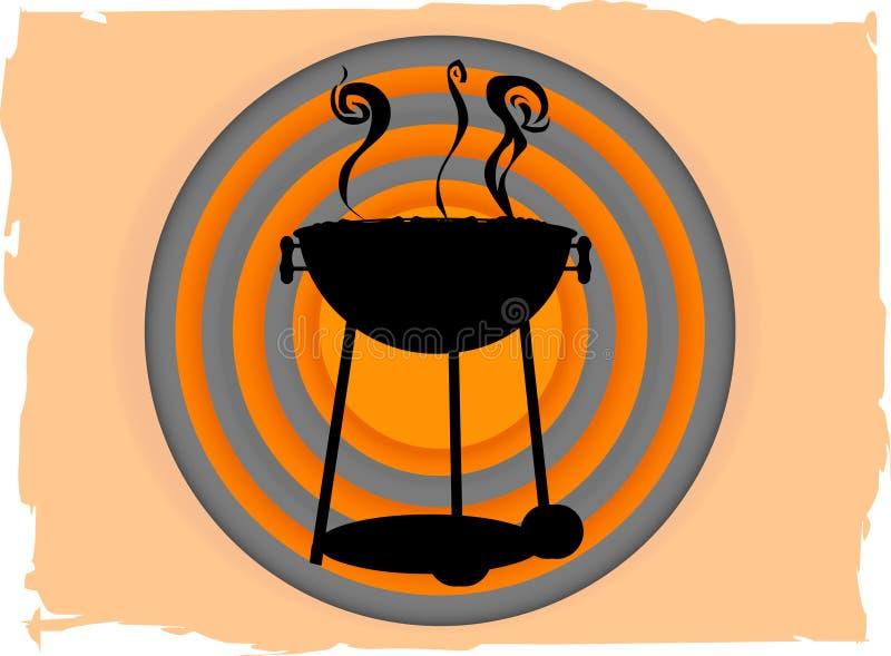 abstrakcjonistycznego bbq bullseye okręgu abstrakcjonistyczny inside royalty ilustracja