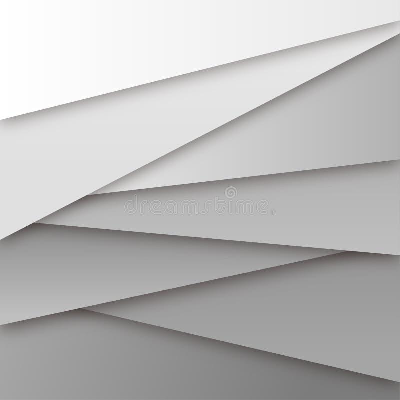 Abstrakcjonistycznego Białego papieru stylu tła Wielocelowy wektor royalty ilustracja