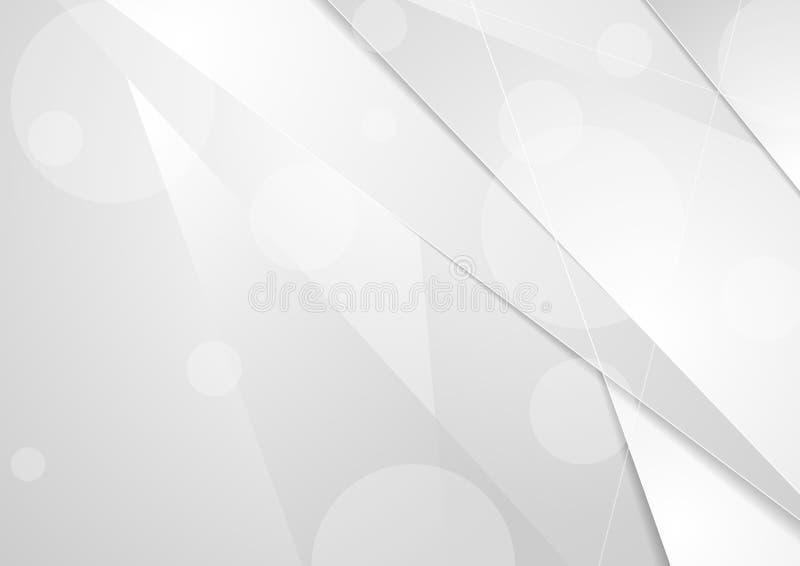 Abstrakcjonistycznego bielu popielaty korporacyjny wektorowy tło royalty ilustracja