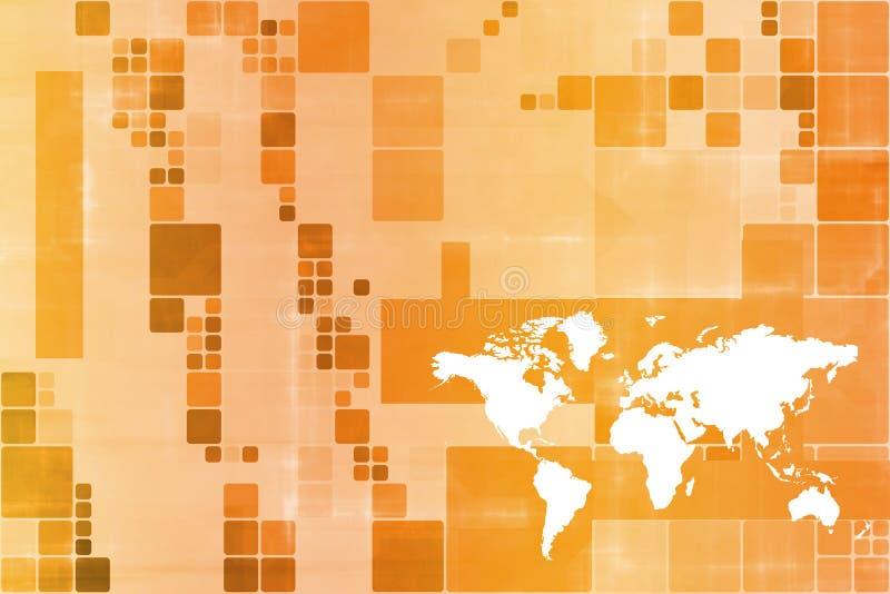 abstrakcjonistycznego biznesowego pomarańczowego szablonu szeroki świat ilustracja wektor