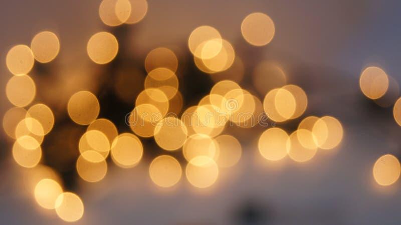 Abstrakcjonistycznego bokeh defocused kółkowy tło Świąteczni defocused światła zdjęcia stock