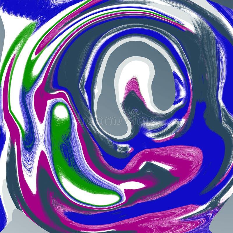 Abstrakcjonistycznego ciecza marmuru ch?odno t?o royalty ilustracja