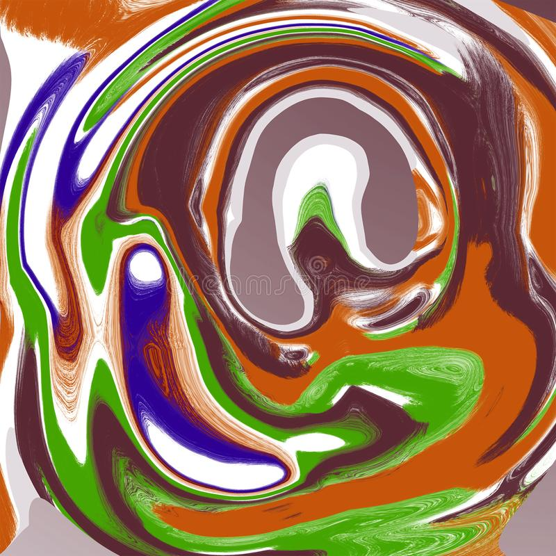 Abstrakcjonistycznego ciecza marmuru ch?odno t?o ilustracji