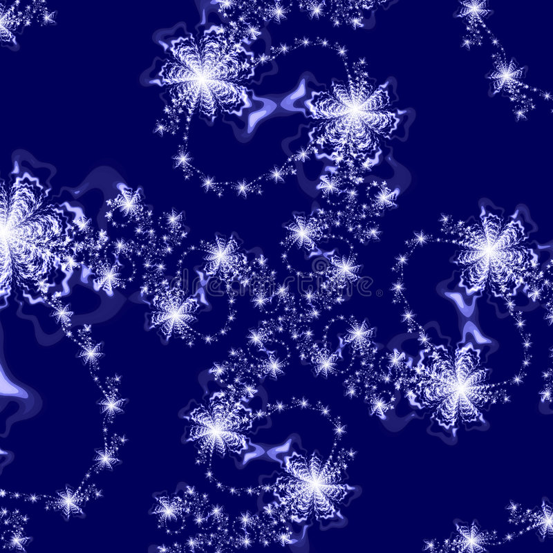 abstrakcjonistycznego ciemności tła wzoru niebieskie gwiazdy srebra ilustracji