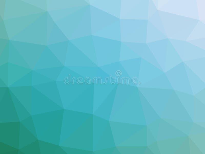 Abstrakcjonistycznego cyraneczka białego gradientowego wieloboka kształtny tło royalty ilustracja