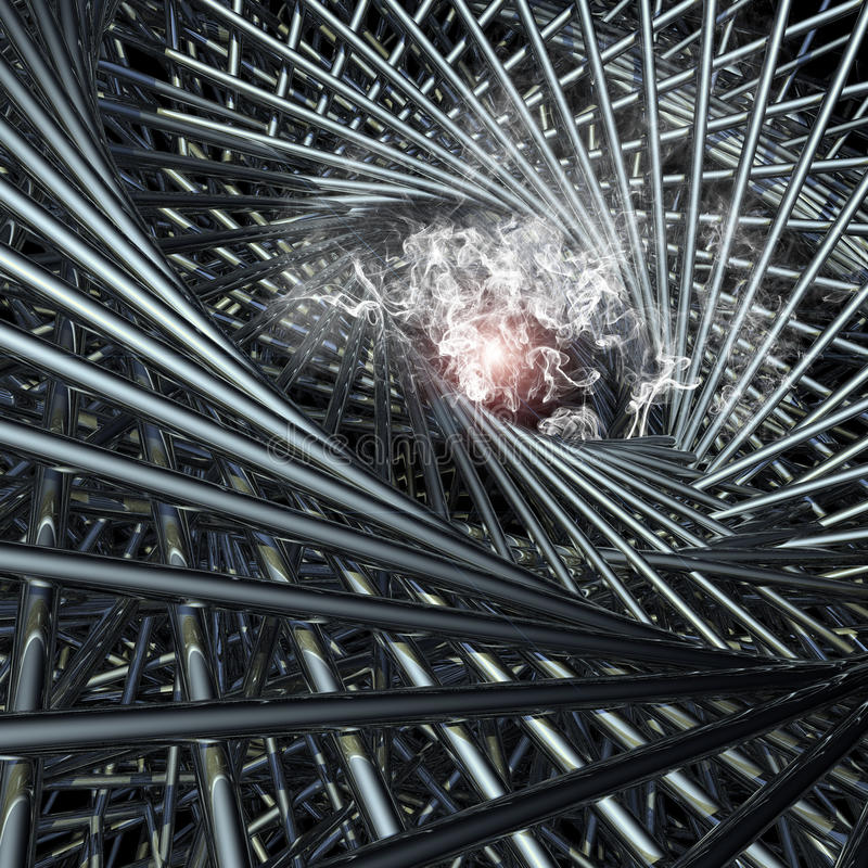 abstrakcjonistycznego czarny desgin geometrycznego dziury złudzenia ilustracyjni okulistyczni kształty ilustracji