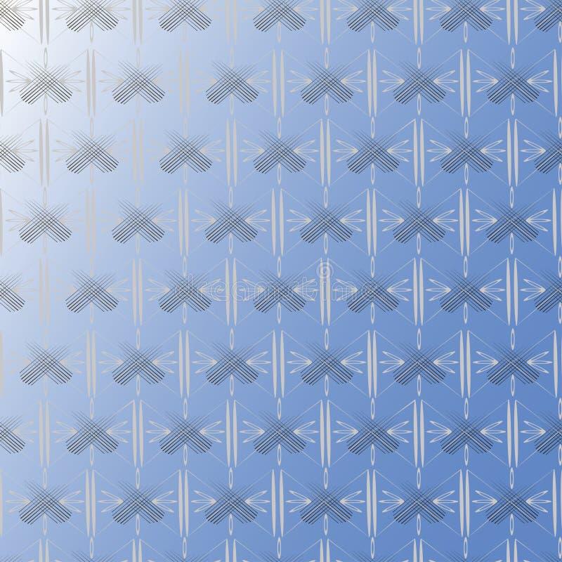 Abstrakcjonistycznego czerni popielaty wzór ilustracja wektor