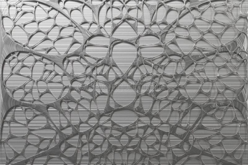 Abstrakcjonistycznego 3d voronoi organicznie struktura robić oczyszczony metal ilustracja wektor