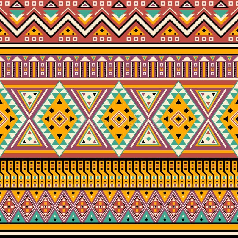 Abstrakcjonistycznego etyka stylu plemienny bezszwowy wzór ilustracji