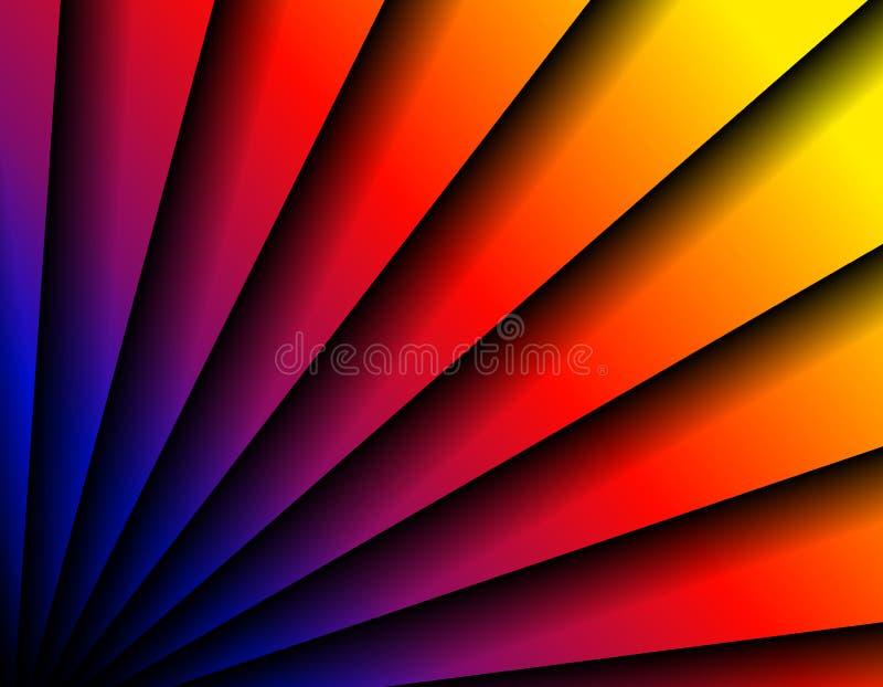 abstrakcjonistycznego fanem tła diagonalne linii ilustracja wektor