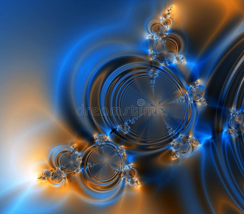 abstrakcjonistycznego fantazji tła niebieska pomarańcze ilustracji