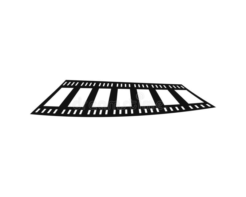abstrakcjonistycznego filmu ikony wektorowy ilustracyjny szablon ilustracji