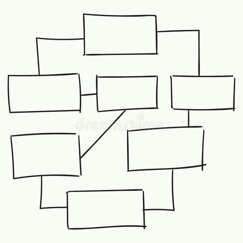 Abstrakcjonistycznego flowchart wektorowy projekt ilustracja wektor