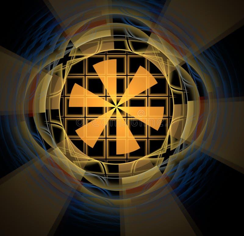 Abstrakcjonistycznego fractal barwiony żółty tło obrazy royalty free