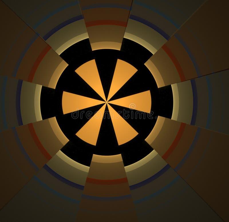 Abstrakcjonistycznego fractal barwiony żółty tło zdjęcia stock