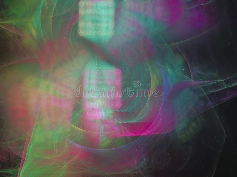 Abstrakcjonistycznego fractal eleganci tła komputerowego czarodziejskiego kształta kreatywnie dynamiczny ilustracja wektor