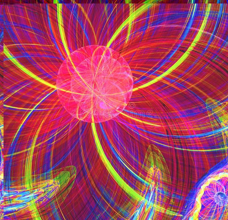 Abstrakcjonistycznego fractal słońca czerwony fantastyczny obcy wizerunek obraz royalty free
