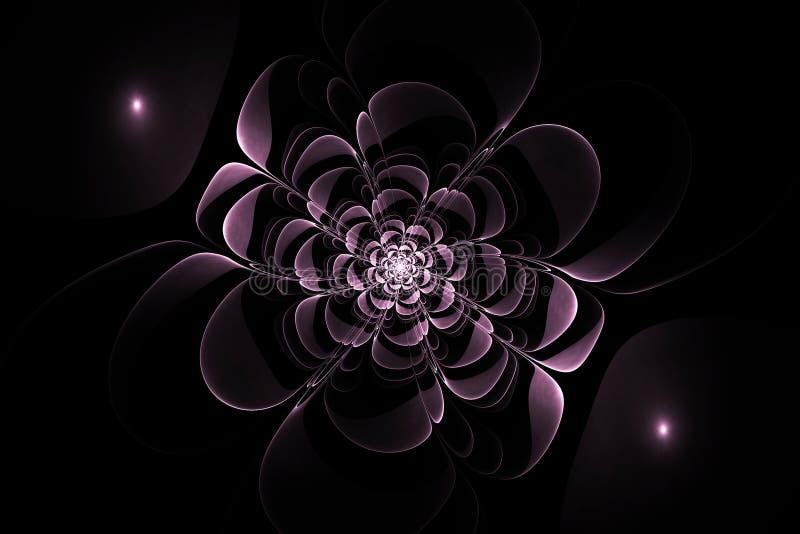 Abstrakcjonistycznego fractal symetryczny kwiat ilustracji