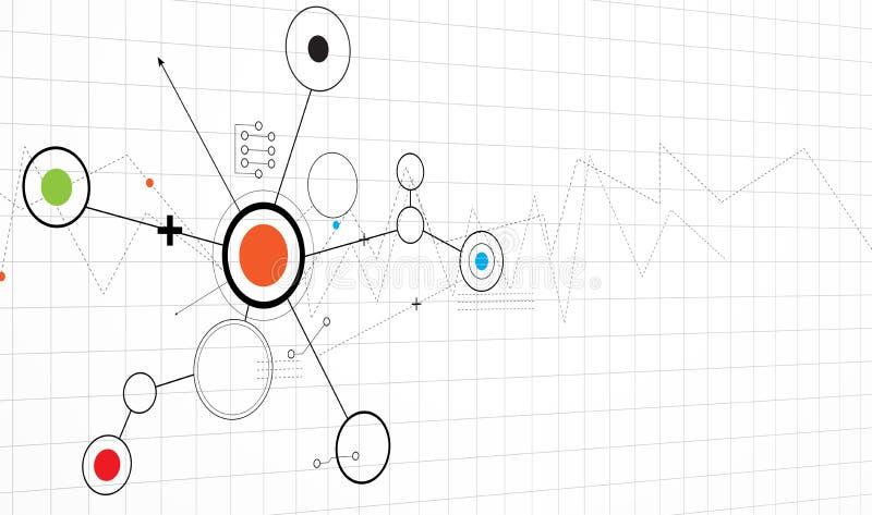 Abstrakcjonistycznego futurystycznego obwodu interneta technologii deski komputerowy b ilustracji