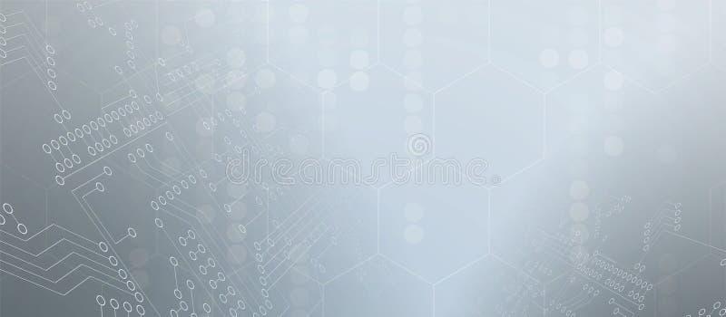 Abstrakcjonistycznego futurystycznego obwodu interneta technologii komputerowa deska ilustracji