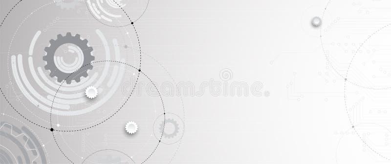 Abstrakcjonistycznego futurystycznego obwodu interneta technologii komputerowy plecy ilustracji