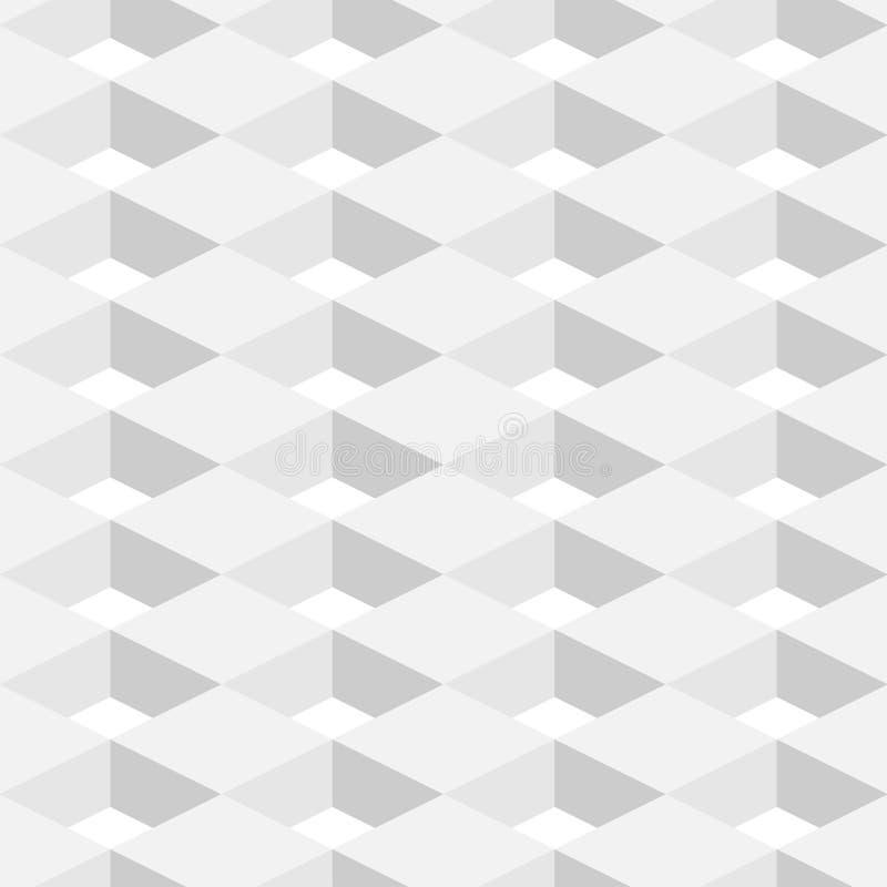 Abstrakcjonistycznego Geometrycznego tła Biały kolor w 3d projekcie ilustracji