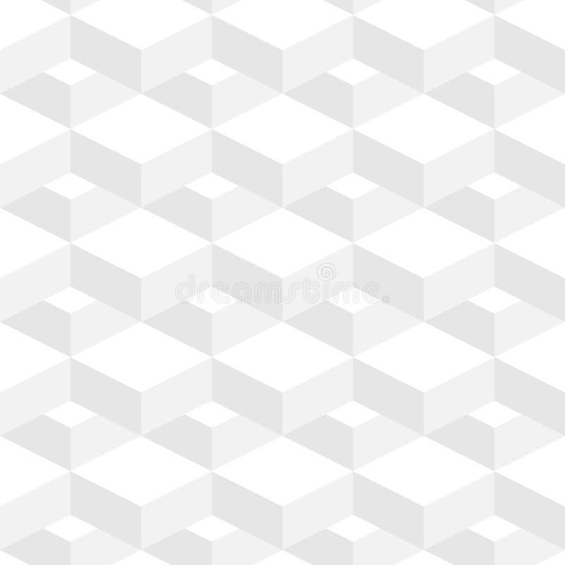 Abstrakcjonistycznego Geometrycznego tła Biały kolor w 3d projekcie royalty ilustracja
