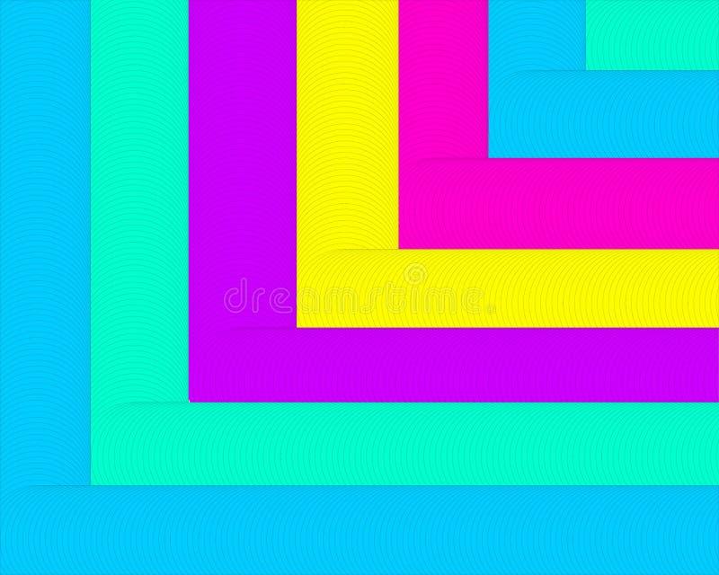 Abstrakcjonistycznego geometrycznego t?a bzu zieleni menchii jaskrawi b??kitni ? ilustracja wektor