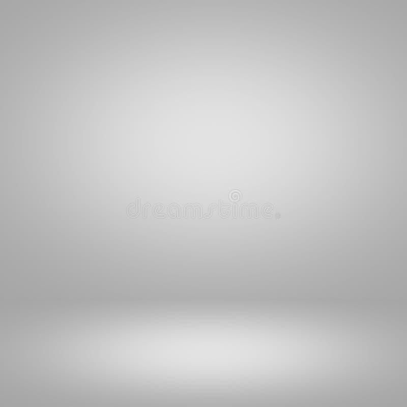 Abstrakcjonistycznego gradientu popielaty pokój - wystawia twój produkty royalty ilustracja
