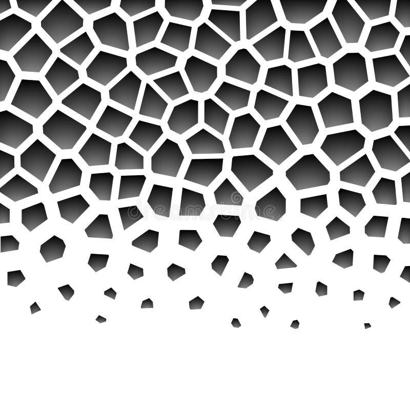 Abstrakcjonistycznego grayscale geometryczny wzór royalty ilustracja