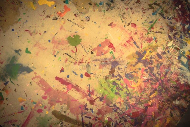 Abstrakcjonistycznego grunge akrylowa ręka malował na brezentowym tle ilustracji
